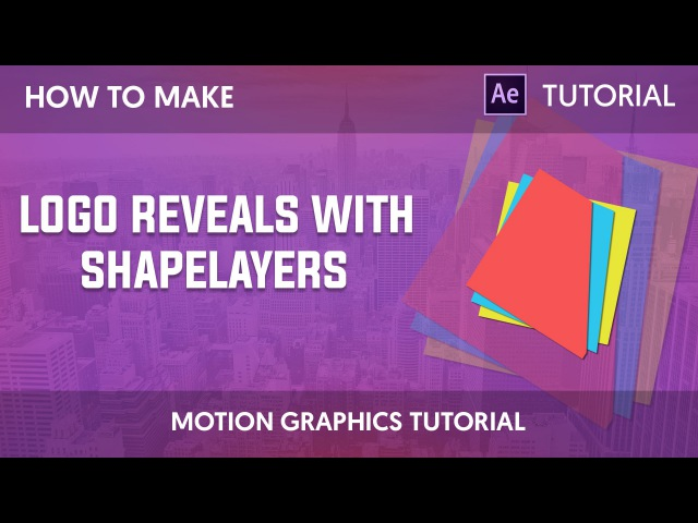 After Effects Tutorial Simple Minimal Logo Reveal