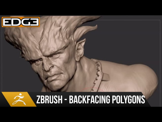 Zbrush Sculpting Tips and Tricks Tutorial - Backface Polygroup Masking HD
