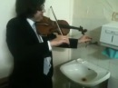 Triple concerto for faucet water pipes and fiddle