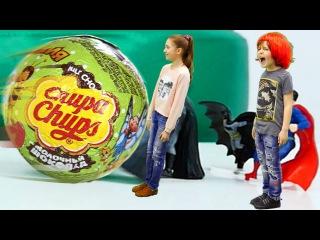 Видео для детей #ЧЕЛЛЕНДЖ распаковки сюрпризов - Игробой Адриан VS Лучшая подружк...