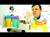 Мультики для детей #ГероивМасках: Доктор Ой лечит ангину Гекко. Игры в больницу