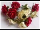 МК Маленькие цветы из лент для веночков и ободочков.
