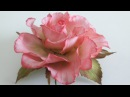 Ручная работа! Роза из фоамирана! часть №1 How to make a rose from foamirana! Part №1