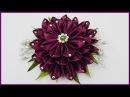 DIY Kanzashi Blume aus Stoff basteln Haarschmuck Satin ribbon flower Hair accessory