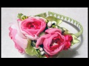Ободок Нежность Весны/Канзаши МК/Hairband Spring Tenderness/Kanzashi DIY