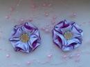 Цветочки из атласной ленты 2,5 см. Канзаши. Мастер класс KANZASHI. master class
