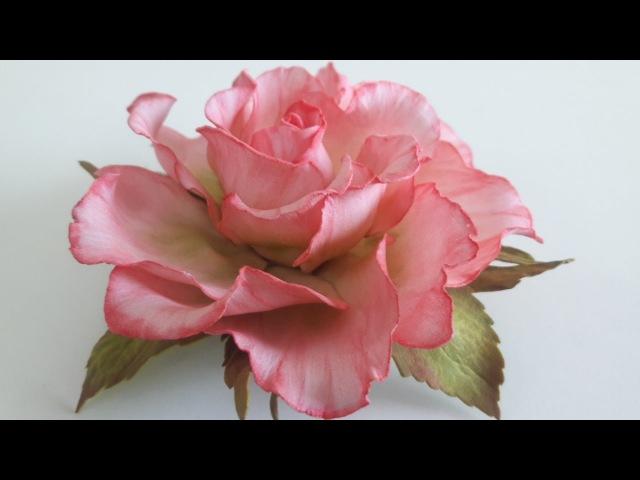 Ручная работа! Роза из фоамирана! часть №1 How to make a rose from foamirana! Part №1