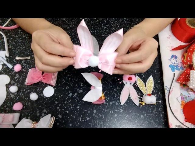 Como colocar o laço Coelhinho em pé no arco ou bico de pato