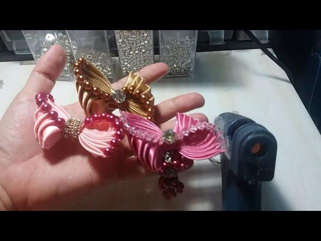 28) Tutorial Pearly Bow / Bow Ubur-ubur / Dasi Ubur-ubur Mutiara