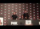 Andrew Lincoln, Norman Reedus e Jeffrey Dean Morgan hug at The Walking Dead Eurotour (Portugal)
