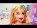У куколки БАРБИ новая прическа красим волосы! Эксперимент игры