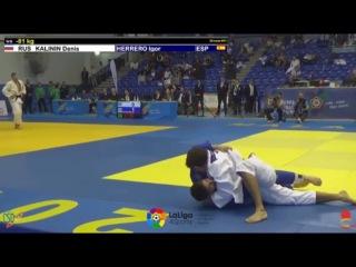 KALININ Denis (RUS) vs HERRERO Igor (ESP) 81 kg. Malaga.