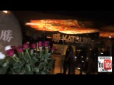 Leonardo DiCaprio and pals have dinner at Katsuya Restaurant in Hollywood