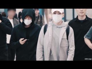 170401 170403 170407 exo at Incheon airport 엑소 인천공항(fan video)