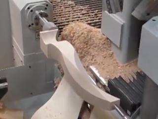 Обработка криволинейной ноги на деревообрабатывающем станке с чпу