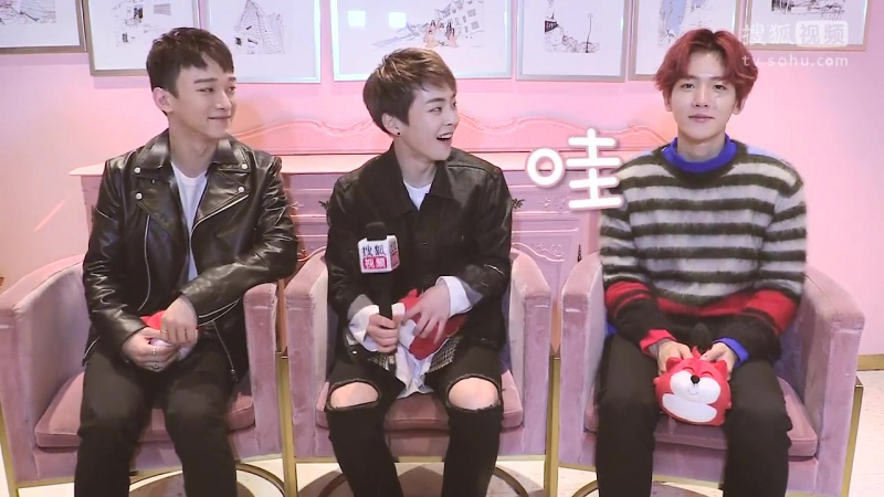 [VIDEO] 161118 EXO-CBX @ Sohu Korea Interview NG Cut