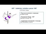 A87 - BALLERINA VARIATION PASSE 180 - (0.5) - CODE OF POINTS (POSA - Pole Sports & World Arts Federation)