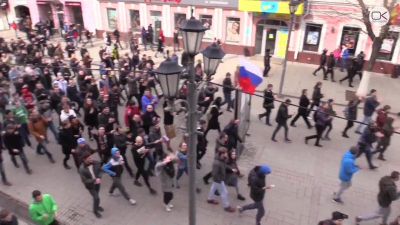 Россия. Больше тысячи саратовцев вышло на прогулку «Димон ответит»
