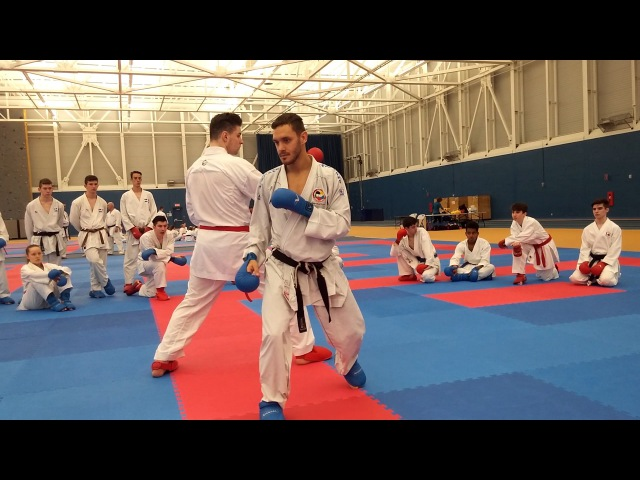 Douglas BROSE, 2X WKF World Champion, in Montreal 2017 04/17 - Arrow Karate Seminars