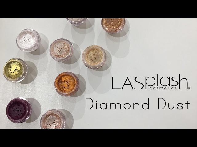 LA Splash Diamond Dust Swatches - Lösa Pigment av hög kvalité!