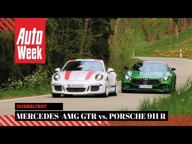Mercedes-AMG GTR vs. Porsche 911 R - AutoWeek Dubbeltest
