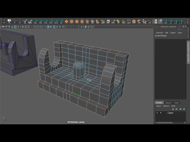 Профессиональные хитрости моделинга сложных форм в Maya. Том 3 » Freewka.com - Смотреть онлайн в хорощем качестве