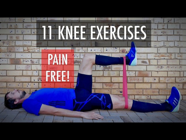 11 Knee rehab exercises for fix knee pain strengthening after knee injury Knee workout Part 1