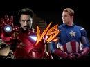 РЭП БИТВА! Железный Человек против Капитана Америки! Iron man VS Captain America