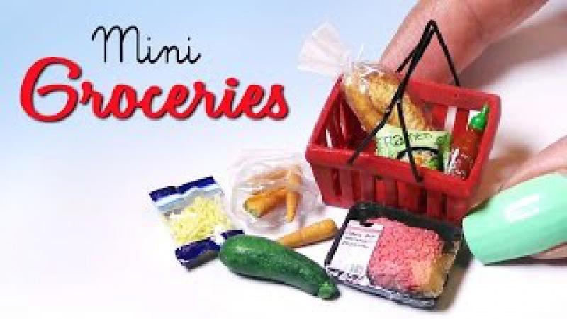 Miniature Groceries Shopping Basket Tutorial Dolls/Dollhouse