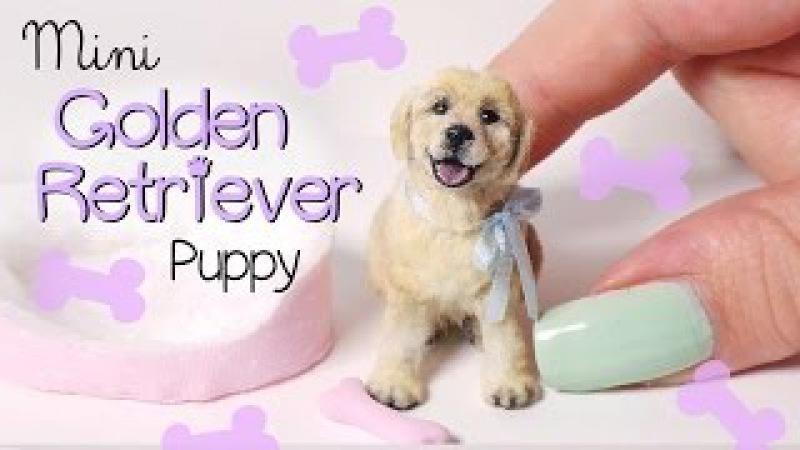 Miniature Golden Retriever Puppy Tutorial Dolls/Dollhouse DIY