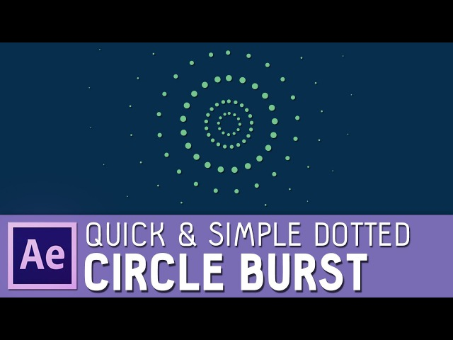 Quick simple After Effects dotted circle burst (with elipse and dash options)