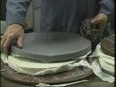 Центробежное литье в силиконовые пресс формы, ч.1 формовка / Mold making Demo Video - PART 1