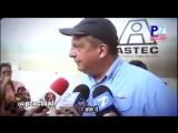 Президент Коста-Рики перекусил во время интервью (Video Shot)