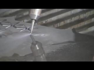 Резка водой с точностью скальпеля. Гидроабразивная резка металла 5 Осевой Станок