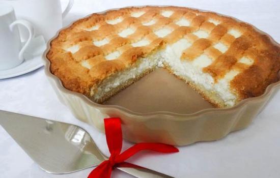 Рецепт пирога с творогом из песочного теста