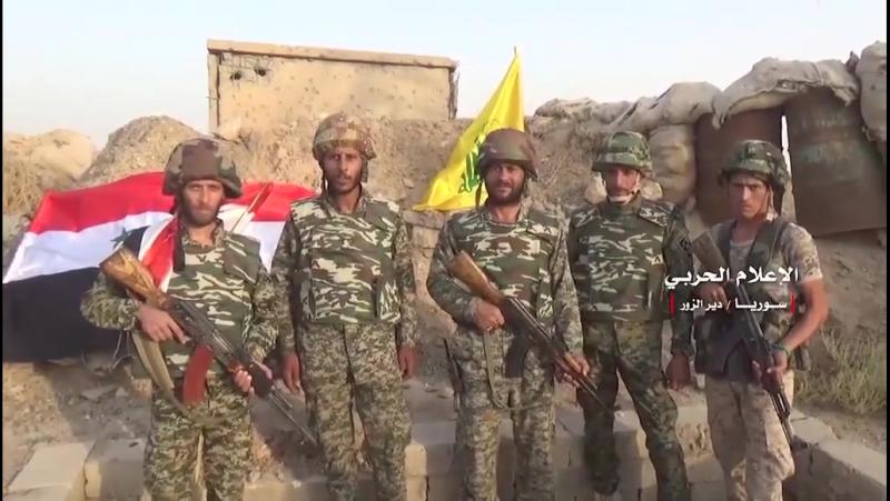 Празднование снятия блокады города Дейр эз-Зор в районе Харабаш, деревне Аль-Джафра и осажденном военном аэропорту Дейр эз-Зор