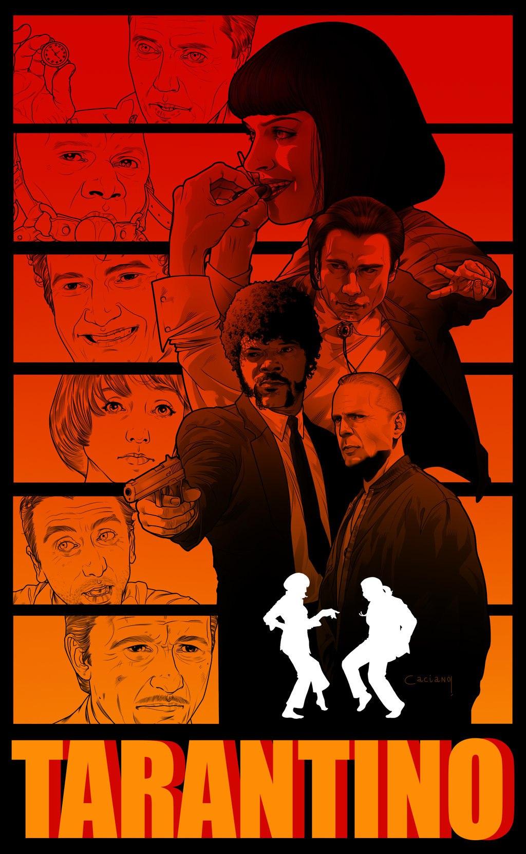 арт-постер для фильма Криминальное чтиво