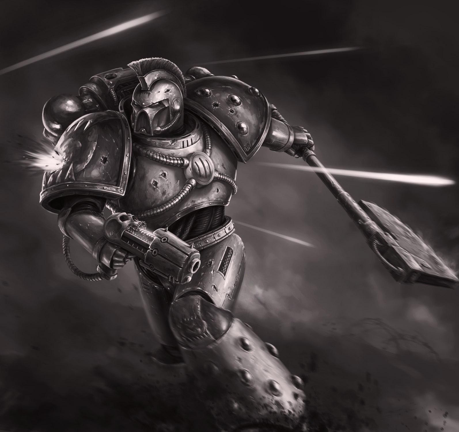 Космический пехотинец Хаоса от художника Bra1nEater (Warhammer 40.000)