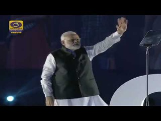 PM Narendra Modi walks off the stage to Star Wars' The Imperial March after a speech about GST