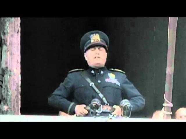 Benito Mussolini - Deceleration of War - Britain and France (Colour Speech)