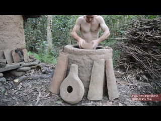 [Посуда из термитной глины] Примитивные технологии   Primitive Technology