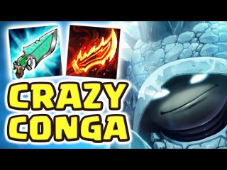 THE BEST SECRET OP TEAM | FRIENDS CRAZY CONGA LINE | NEW CRAZY BUILD RAMMUS JUNGLE - Nightblue3