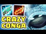 THE BEST SECRET OP TEAM | FRIENDS CRAZY CONGA LINE | NEW CRAZY BUILD RAMMUS JUNGLE - Nightblue3