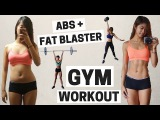 Abs &amp Full Body Fat Blaster Gym Workout + Warm Up Routine  Weight Training to Burn Calories