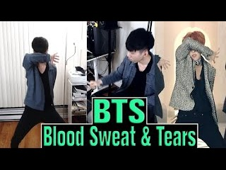 BTS - Blood Sweat & Tears SHORT DANCE + DRUM Cover | TOO MUCH SWEATING.