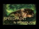 Dreamland. Drawing of a cat (Speedpaint). By Brennen_Fox