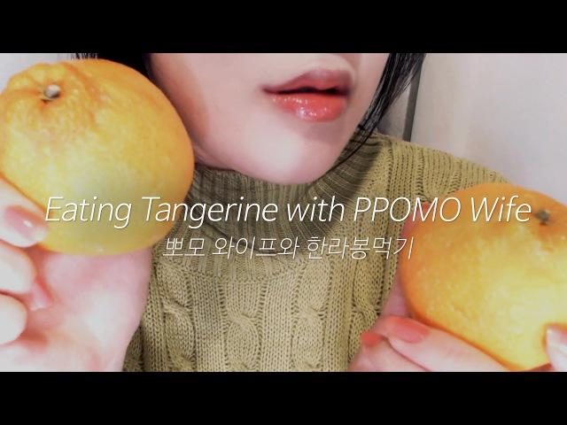 ASMR Korean WAIFU RPEATING TANGERINE 🍊(SUB)신혼롤플과 한라봉이팅