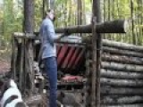 Building A Shelter For 2 People (Bug Out Camp)