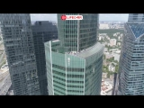 Задержание российского спайдермена в Москва-сити сняли с квадрокоптера