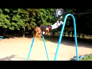 Турники и брусья, street_workout_girl. богдана ковальчук